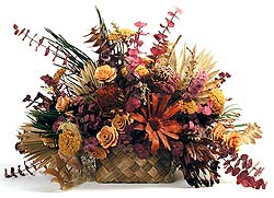 Tropical Dried Lauhala Basket Arrangement