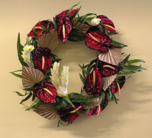 Red Anthirium Wreath