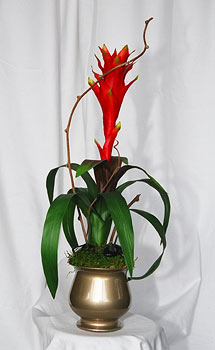 Tropical Silk Flower Arrangement
